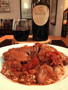 The Lush Chef: Spice-Braised Chicken Legs with Red Wine & Tomato