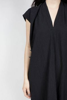In-Stock: Everyday Dress, Cotton Gauze in Black