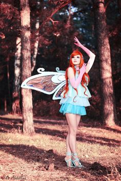 Bloom. Enchantix version. Winx Club Costume, make-up, wings by me Photo byMorumotto1 ilokron as assistant