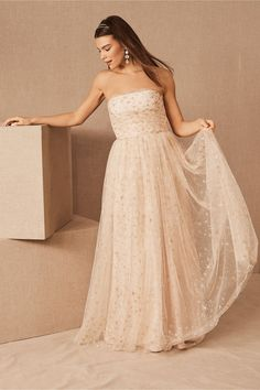 Shop unique and affordable bridesmaids dresses at BHLDN. Browse different bridesmaid dress colors and lengths with convertible styles in colors and ways to wear! Different Bridesmaid Dresses, Bhldn Bridesmaid Dresses, Affordable Bridesmaid Dresses, Bridesmaid Dress Colors, Bridal Party Dresses, Long Wedding Dresses, Bridesmaids, Gown Wedding, Bridal Gowns
