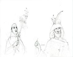 Rébecca Dautremer - Crayonné Cortège de Saba | Oeuvres | Galerie Robillard