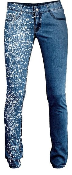 Diverse Jeans Decor from Embroidery, Painting and Lace, фото № 37 Painted Jeans, Painted Clothes, Altering Jeans, Paint Splatter Jeans, Looks Jeans, All Jeans, Denim Ideas, Embellished Jeans, Recycle Jeans