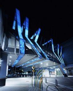 Bayside North Shopping Centre design :: Hassell in Frankston Victoria Australia Futuristic Architecture, Facade Architecture, Amazing Architecture, Unique Buildings, Amazing Buildings, Mall Design, Retail Design, Facade Lighting, Victoria Australia