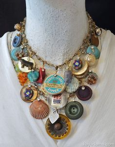 go to Kay Adams! MADE FROM *YOUR* PIECES. Family Treasure Necklace.  Anthill Antiques, Jewelry and Chandelier Heaven