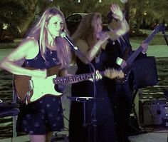 Robyn Fear with Sunsetbayband playing a wedding party in Key Largo. Misty Holke in pic too Female Guitarist, Band Posters, Playing Guitar, Live Music, Music Videos, Singing, Bands, Concert, Key Largo