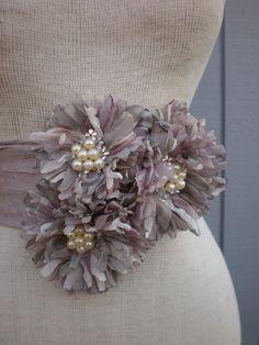 Mauve bridal sash