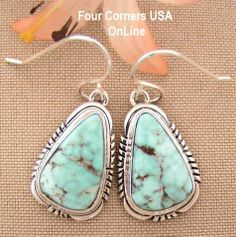 Four Corners USA Online -  Dry Creek Turquoise Sterling Earrings Navajo Artisan Jane Francisco Native American Jewelry NAER-1438, $192.00 (http://stores.fourcornersusaonline.com/dry-creek-turquoise-sterling-earrings-navajo-artisan-jane-francisco-native-american-jewelry-naer-1438/)