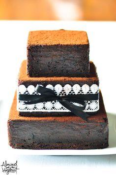 Wedding cake brownie!