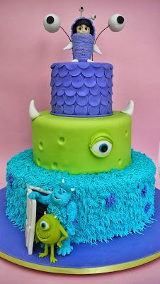 Monsters Inc. cake - For all your cake decorating supplies, please visit www.craftcompany.co.uk/