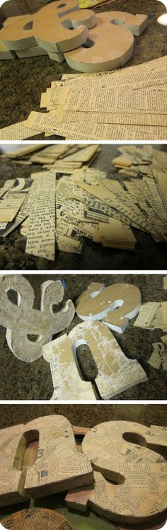 glitter is my favorite color: DIY: Paper Mache' Letters