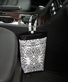 Gearshift Car Trash Bag ~ Toile Oilcloth