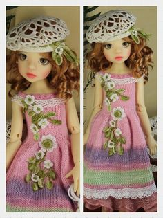 OOAK Handmade Outfit modeled on Fair Skin Izzy Human MSD BJD by Kaye Wiggs via TRC Member: Tanabel