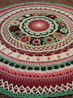 Saved as a list for yarn colors Ravelry: bekcallahan's Queen mandala Crochet Squares, Crochet Square Blanket, Crochet Mandala Pattern, Crochet Circles, Crochet Stitches Patterns, Crochet Designs, Crochet Afgans, Crochet Yarn, Crochet Mandela