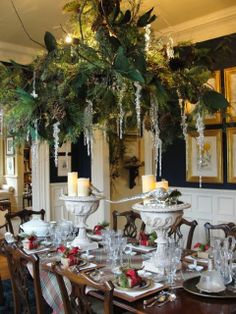 Nell Hill's | Nell Hills - I love the greenery over the table and the candles in the ...