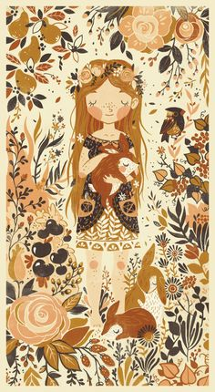 I want this on my Baby Girls wall... when I have a baby girl, that is.... in the form of wall paper or in a frame is fine <3  Children's Illustration 2 by Teagan White, via Behance