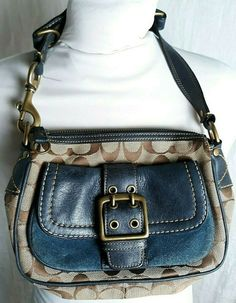 Coach Of The Year, Navy Logo, Coach Legacy, Suede Handbags, Small Handbags, Brown Beige, Purses, Best Deals, Leather