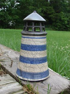 raku pottery lighthouse
