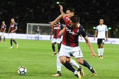 Bruno Petkovic of Bologna FC in action during the Serie A match between Bologna FC and FC Internazionale at Stadio Renato Dall'Ara on September 19, 2017 in Bologna, Italy.