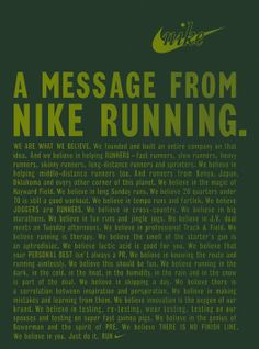 I don't wear Nike shoes for my runs, but I  completely agree!