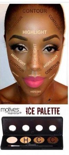 Makeup ideas for black women contouring brows 56+ Ideas #makeup #NaturalBodyScrub Contour Makeup, Eyeshadow Makeup, Eyeliner, Beauty Makeup, Beauty Tips, Highlighting Contouring, Bronzer Makeup, Beauty Skin, Yellow Eyeshadow