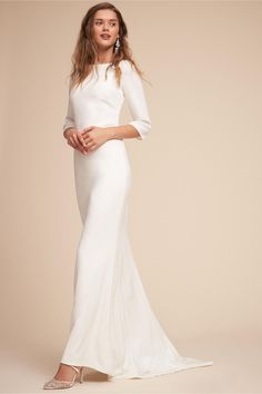 BHLDN's Amy Kuschel Bacall Gown in Ivory