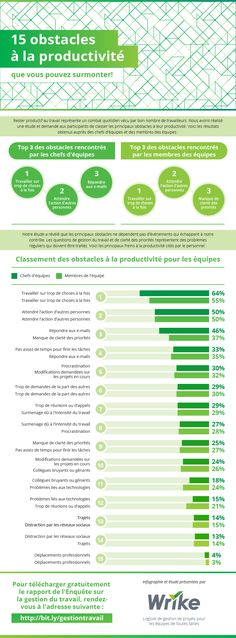 We conducted a survey and asked participants to rank their top roadblocks to productivity. Infographic brought to you by Wrike project management cloud software Business Coach, Online Business, Project Management, Time Management, Wordpress Blog, Job Work, Startup, Business Entrepreneur, Human Resources