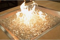 Glass fire pit! It looks so cool!