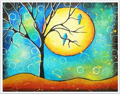 Abstract Landscape Art Print  Tree of Life Wall by hjmArtGallery, $29.99
