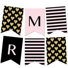 Free Printable Letters For Banners Party Ideas Pinterest