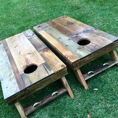 Custom Cornhole Boards More Diy Yard Games, Diy Games, Backyard Games, Outdoor Games, Diy Wedding Yard Games, Outdoor Fun, Lawn Games, Wedding Ideas, Backyard Patio
