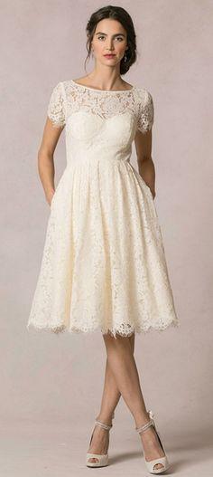 Informal Second Wedding Dresses for older brides   Casual Short ...