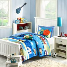 Mizone Kids Totally Transit Reversible Comforter Set - BedBathandBeyond.com