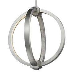 """Murray Feiss P1391SN 12"""" LED Globe Pendant"""