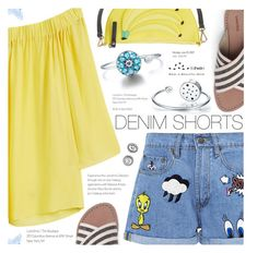 """""""The Final Cut: Denim Shorts"""" by totwoo ❤ liked on Polyvore featuring Paul & Joe Sister, MANGO, Lands' End, Kate Spade, NARS Cosmetics and Michael Kors"""