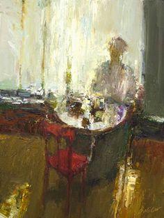 Dan McCaw ~ Waiting, oil, 24 x 18.