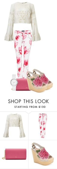 """""""Floral Pants"""" by tlb0318 on Polyvore featuring Miss Selfridge, Armani Jeans, Mulberry, Jeffrey Campbell and DKNY"""