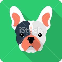 Vector dog icon flat design Royalty Free Stock Vector Art Illustration