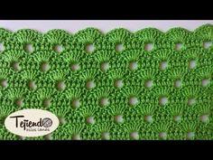Punto a ganchillo - YouTube Crochet Stitches Patterns, Crochet Motif, Crochet Designs, Crochet Baby, Stitch Patterns, Knitting Videos, Crochet Videos, Farm Crafts, Diy And Crafts