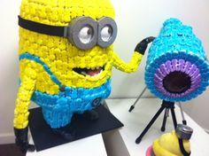 It's not a cake, but it is nerdy! Peep art Minion