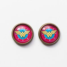 Wonder Woman Stud Earrings Wedding Photographer London, Geek Wedding, Aquamarine Jewelry, All Things Cute, Jewel Box, Holiday Sales, Cool Costumes, Statement Jewelry, Timeless Fashion