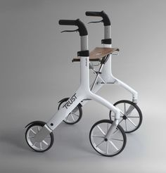 Folding height-adjustable rollator (4 casters, with seat) Let's Fly Trust Care