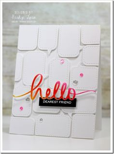Speech bubble card by karolyn