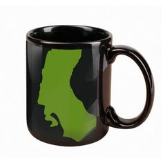 Star Trek The Next Generation Worf Silhouette Mug--heh heh, at first I thought this was California!