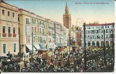 POSTAL SEVILLA,COLOREADA,MUY ANTIGUA,ORIGINAL,SIN CIRCULAR,ES LA POSTAL DE LA FOTO (Postales - España - Andalucía Antigua (hasta 1939) - Sevilla)