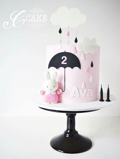 cute tall skinny my melody rain shower cake