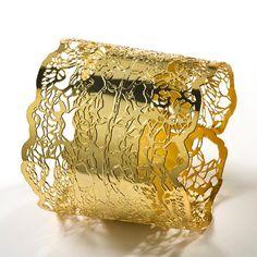 Gros bracelet or cuff Bracelet bracelet large par inbarshahak