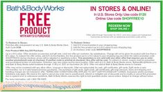 Free Printable Bath And Body Works Coupons Bath And Body Shop, The Body Shop, Bath And Body Works, Michaels Coupon, Lowes Coupon, Free Printable Coupons, Free Printables, Ac Moore, Chuck E Cheese