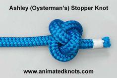 Tutorial on Ashley Stopper Knot (Oysterman's) Tying