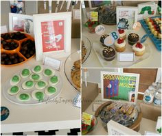 Fun idea for a baby shower with foods coordinating to children's books