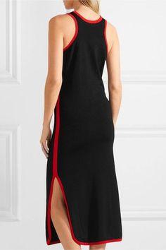 Fendi - Heart-intarsia Knitted Midi Dress - Black - IT